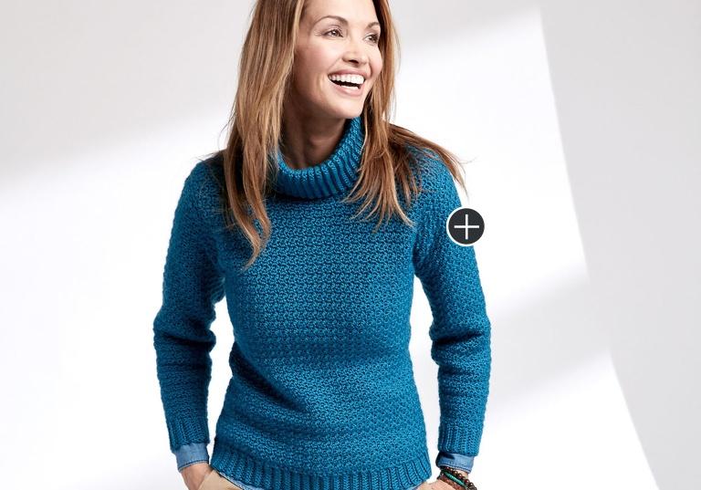 Easy Crochet Turtleneck Pullover