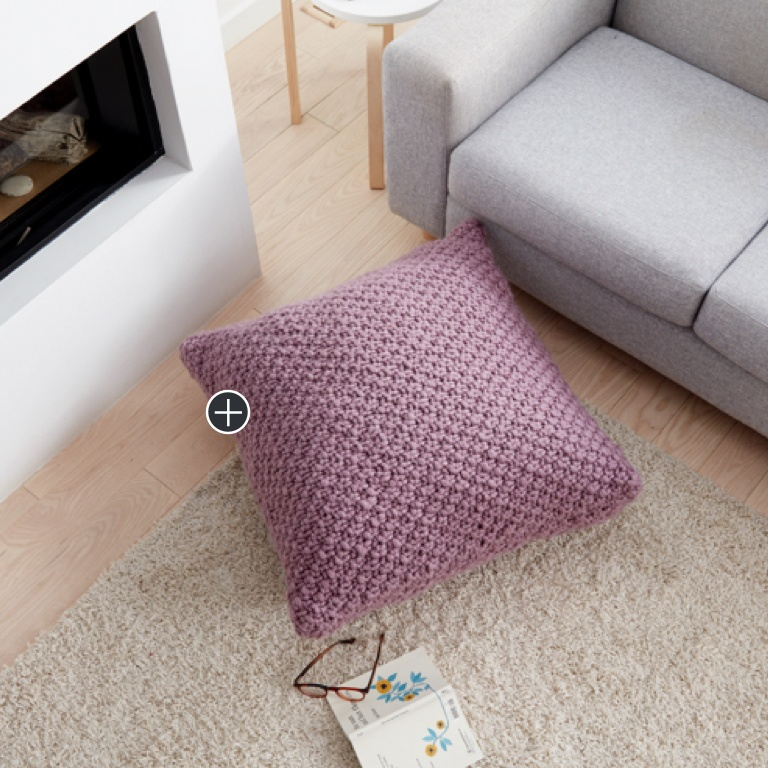 Easy Irish Moss Knit Floor Pillow
