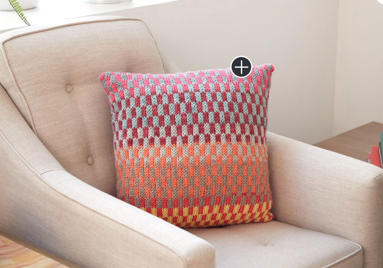 Easy Fantastic Fair Isle Knit Pillow