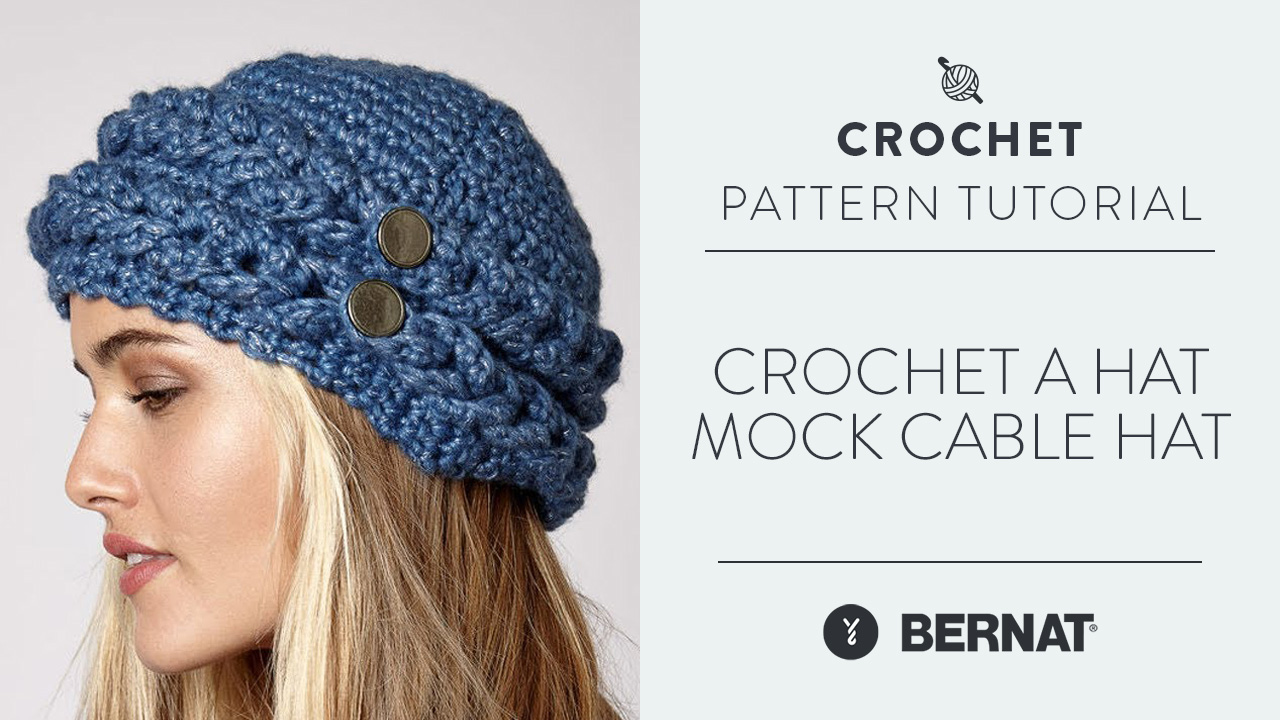 Crochet A Hat: Mock Cable Hat