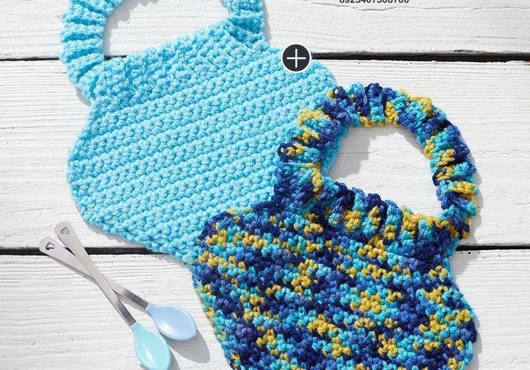 Easy Crochet Baby Bibs