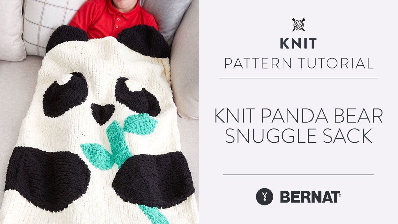 Knit: Panda Bear Snuggle Sack