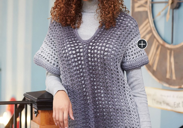 Easy Two Rectangle Crochet Sweater
