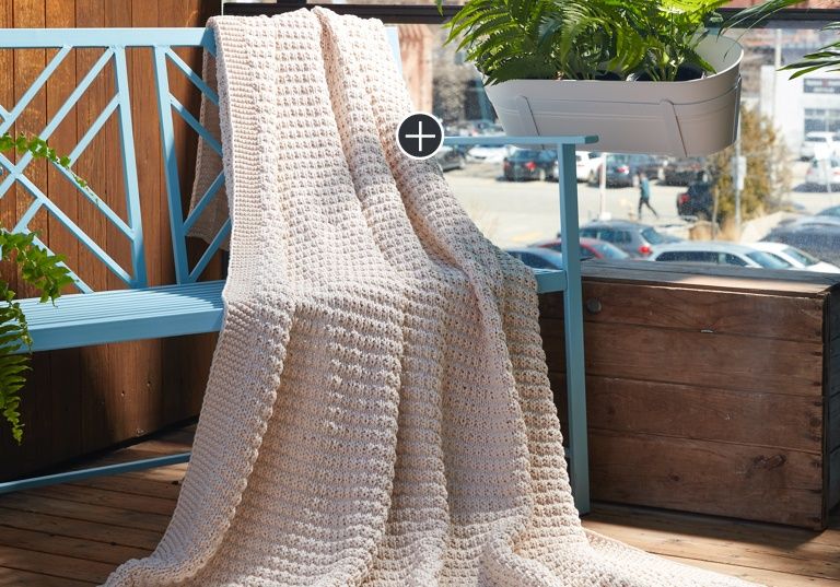 Easy Knit Textured Throw