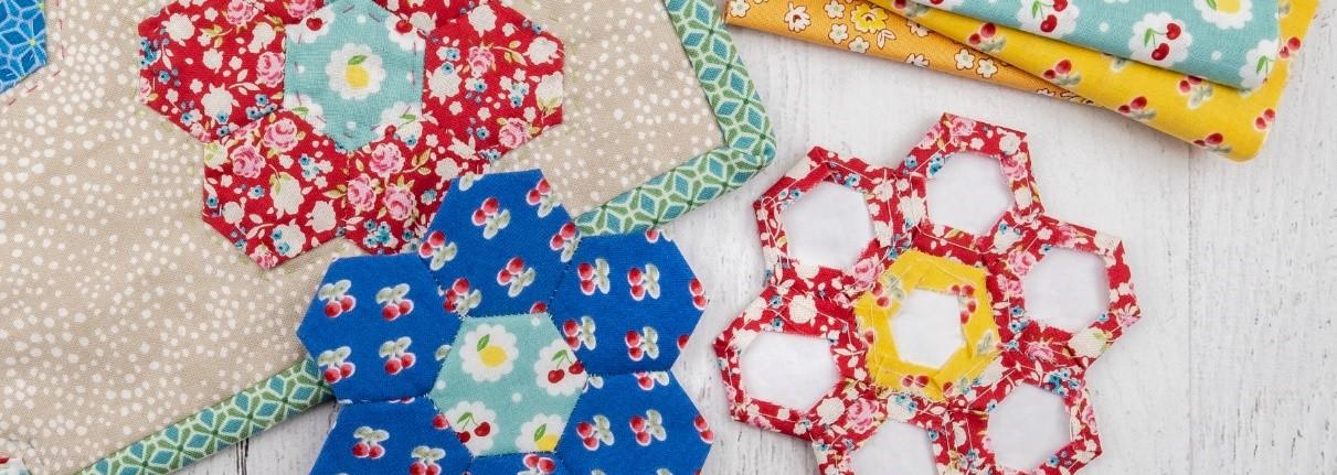 English Pieced Petite Garden Quilt