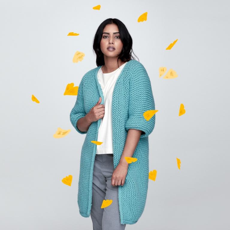 Easy Minimalist Knit Jacket