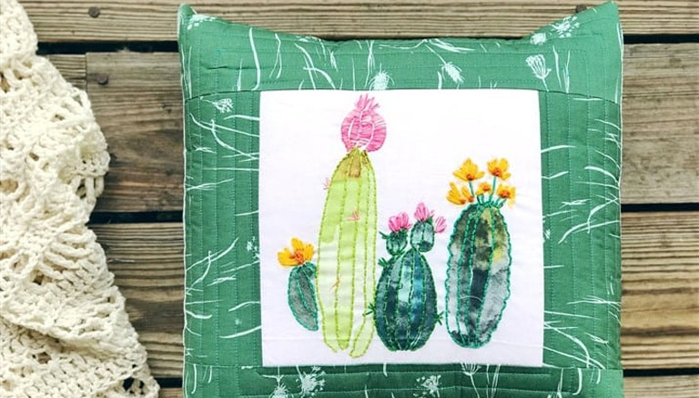 Coats and Clark Embroidery Panels + A Cacti Embroidery Pillow Tutorial