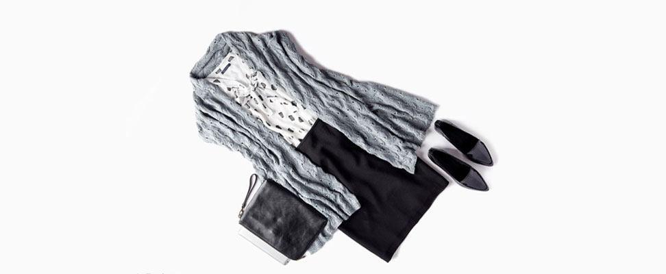 Elegant Lace Shawl - For Work