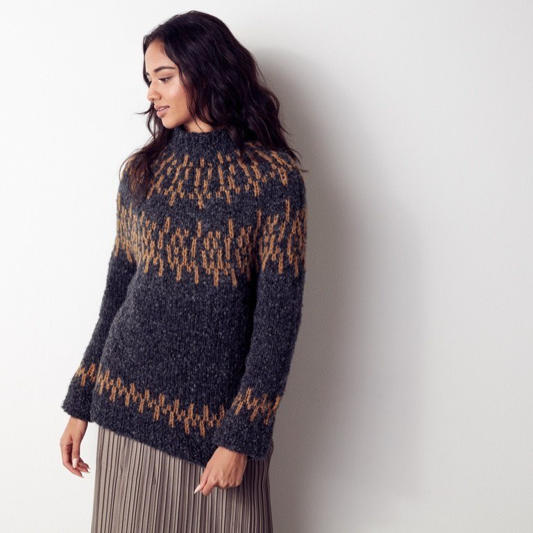 Intermediate Nordic Knit Pullover