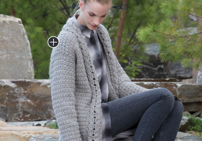 Easy Gayle's Slouchy Crochet Cardigan