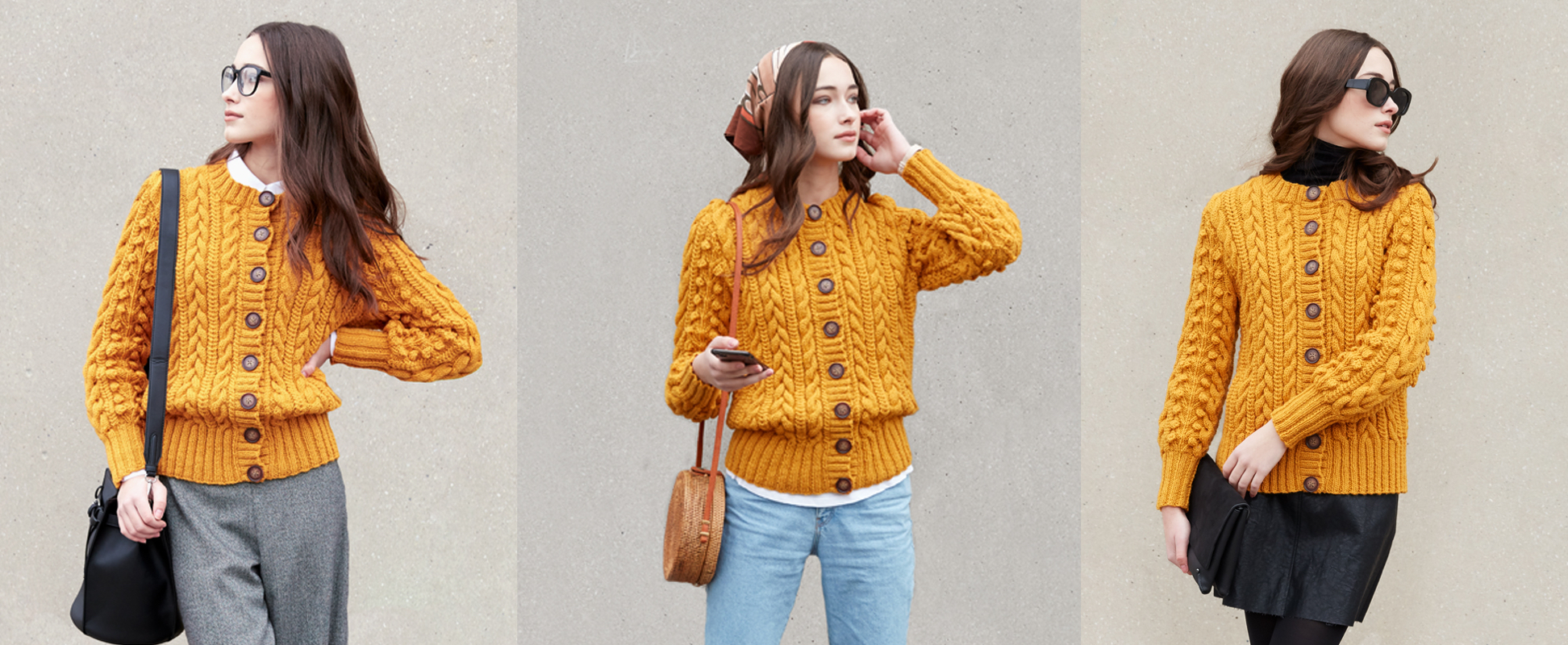 Knitting a Cardigan with Gorgeous Cables & Bobbles