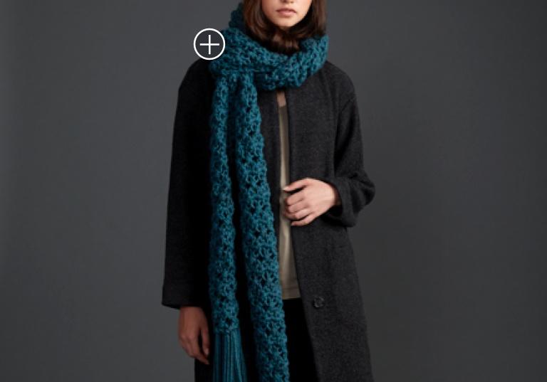 Easy Crossing Paths Crochet Super Scarf
