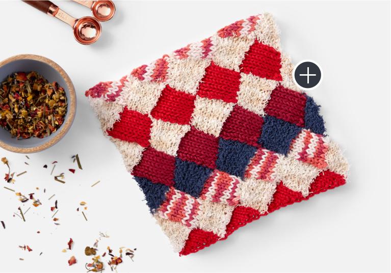Intermediate Lily Sugar'n Cream Enterlac Knit Dishcloth