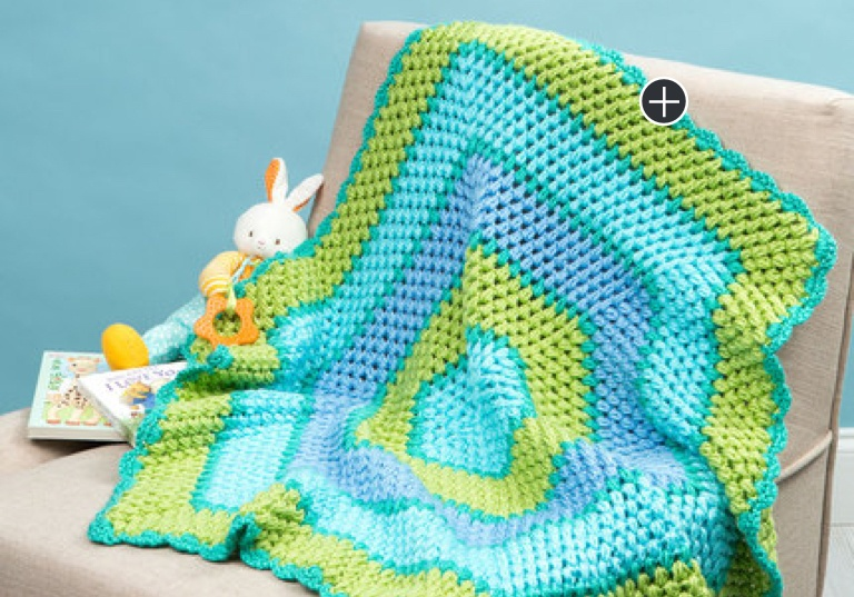 Easy Beach Times Hexagon Crochet Blanket
