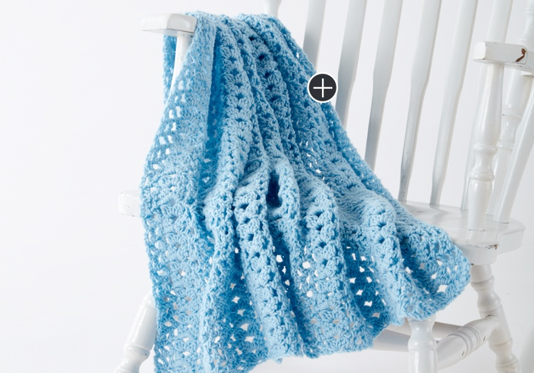 Easy Cluster Waves Crochet Blanket