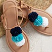 Make Pompom Sandals With Patons Grace | Blog