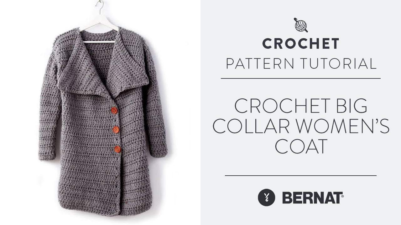Crochet: Big Collar Women's Coat
