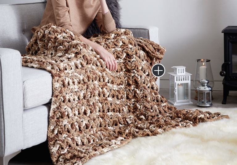 Easy Wavy Ridge Crochet Blanket