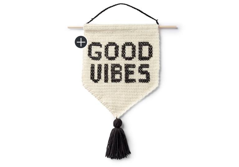 Good Vibes Crochet Banner