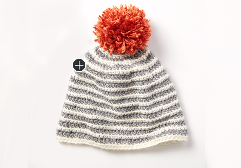 Easy Striped Right Hat