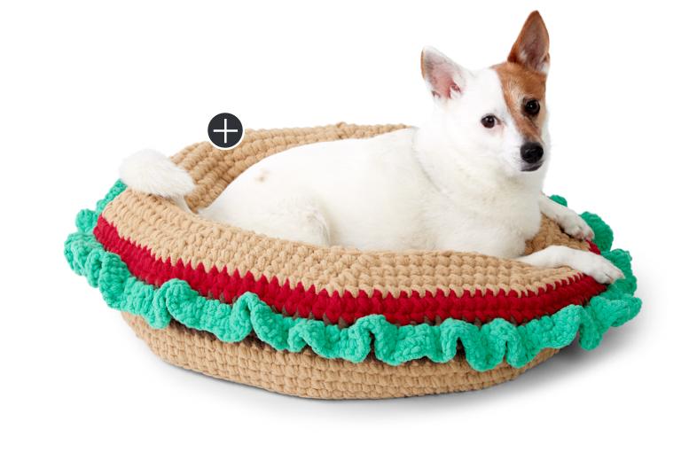 Easy Crochet Burger Pet Bed