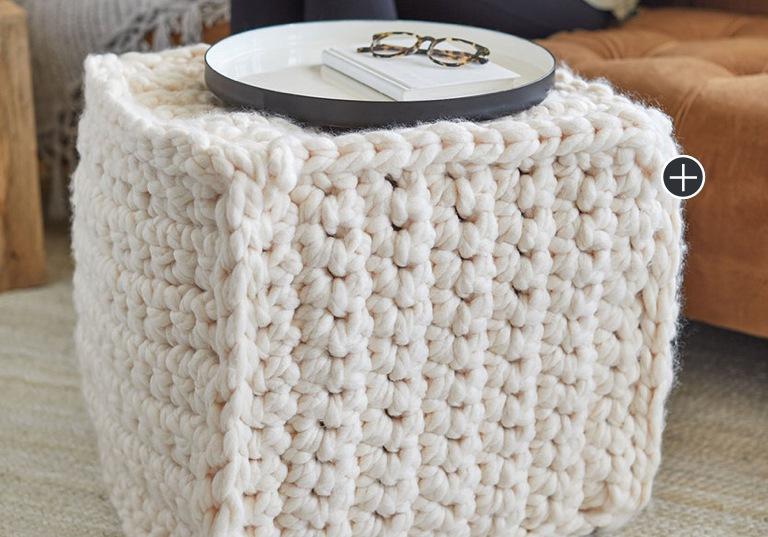 Easy Smart Square Crochet Pouf