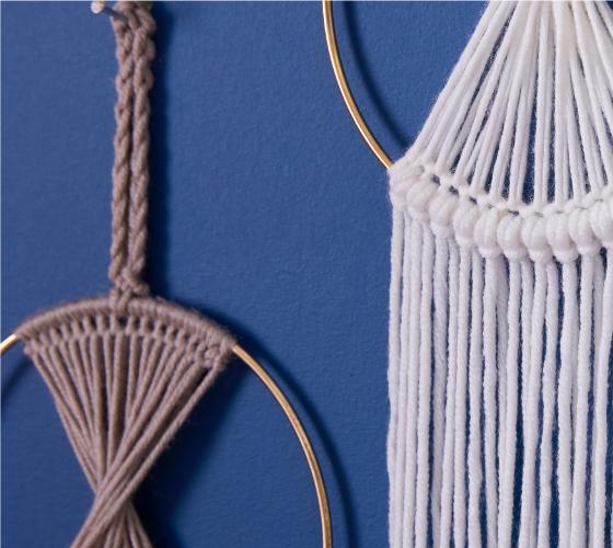 Caron x Pantone Prismatic Crochet Wall Hanging 2