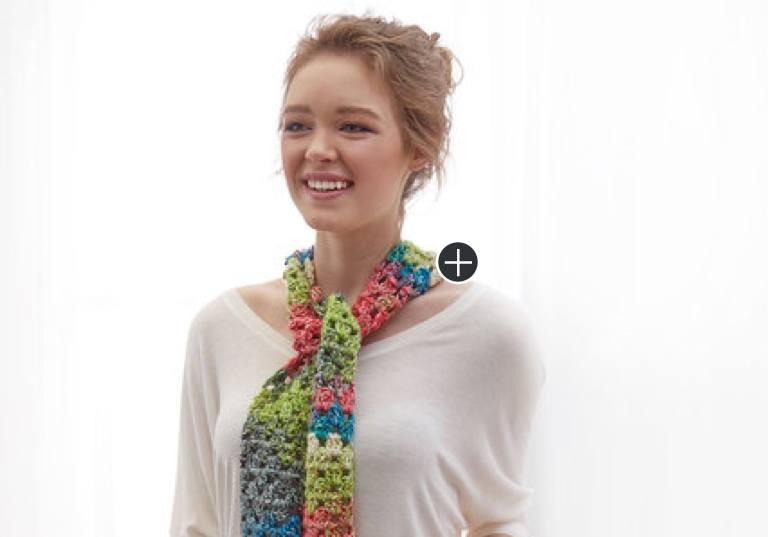 Beginner Skinny Crochet Scarf