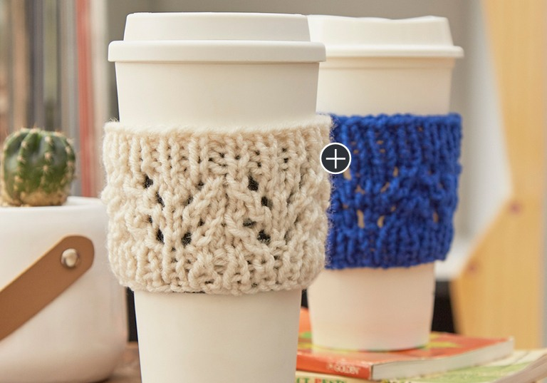 Easy Lacy Knit Cup Cozy
