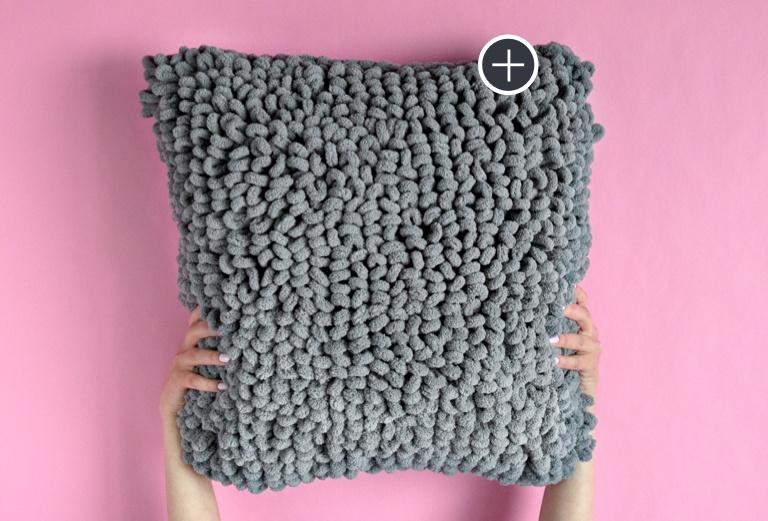 Bernat Blanket-EZ Loopy Pillow