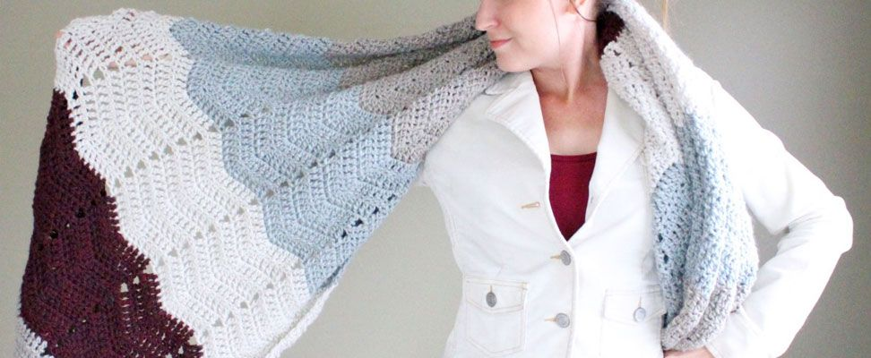 Cozy Chevron Super Scarf by Bhooked