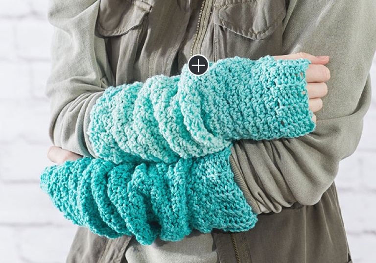 Easy Crochet Ombre Arm Warmers