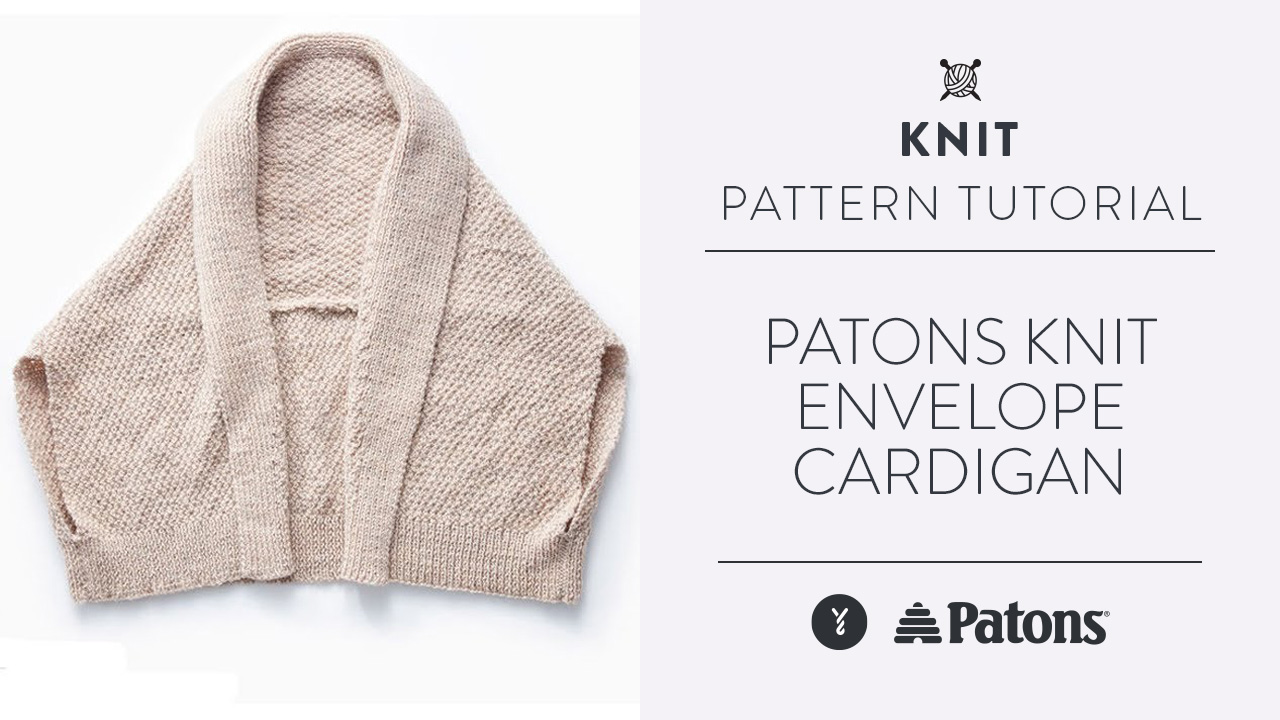 Patons Knit Envelope Cardigan
