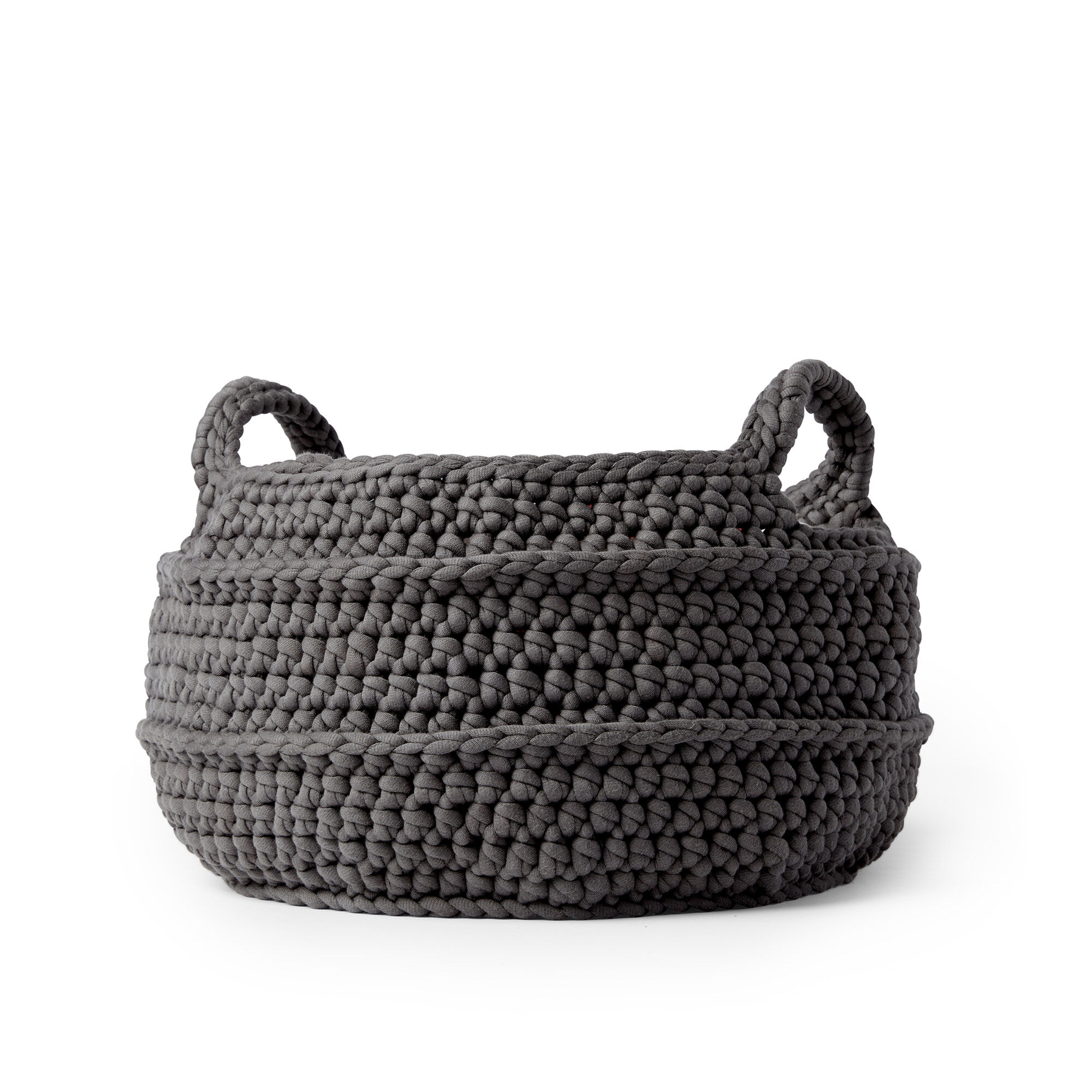 Bernat Crochet Basket with Handles
