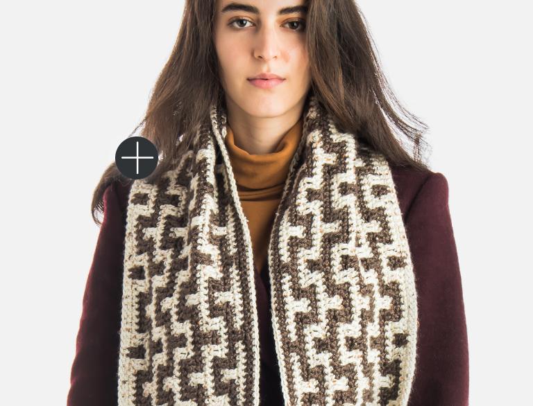 Intermediate Mosaic Stitch Crochet scarf