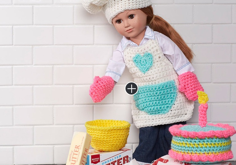 Easy Crochet Baking Chef Doll