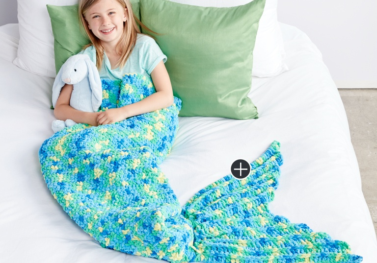 Easy My Mermaid Crochet Snuggle Sack