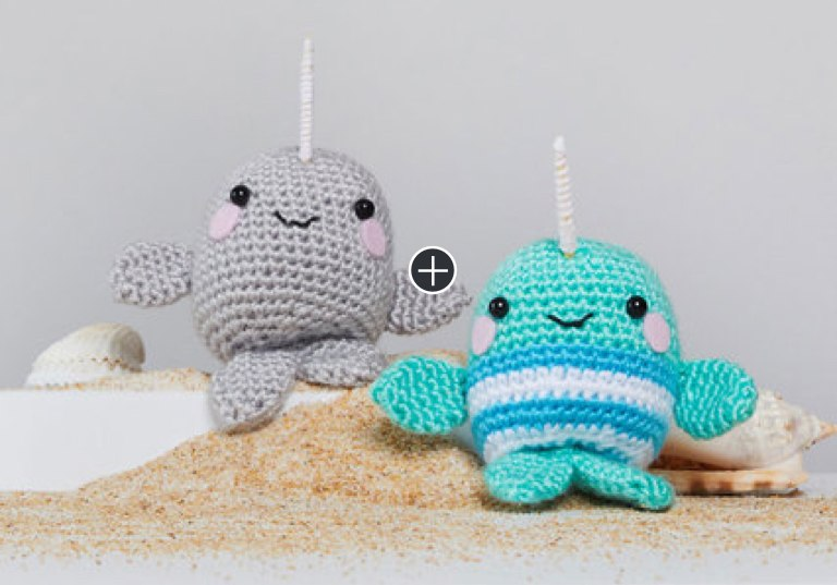 Easy Ned and Norman Crochet Narwhal