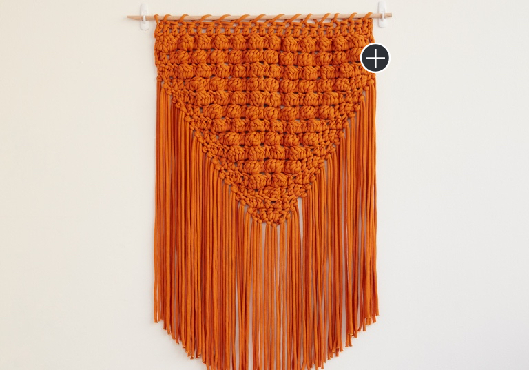 Easy Popping Fringe Crochet Wall Hanging