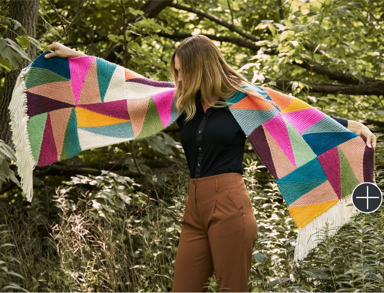 Intermediate Caron Knit Fenangle the Angles Blanket