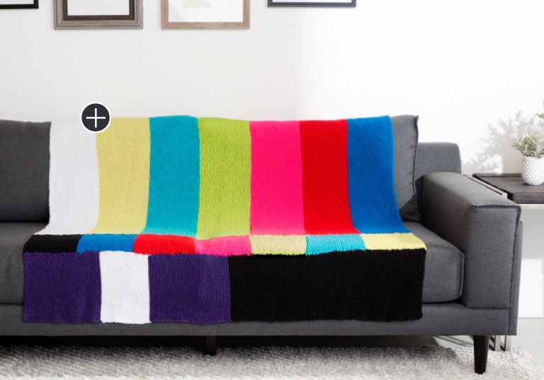 Easy TV Party Knit Blanket