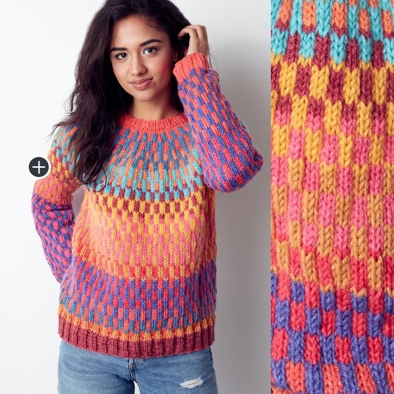 Intermediate Repeat Knit Pullover