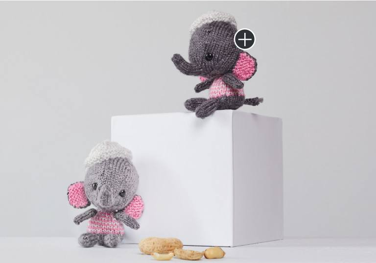 Easy Emily and Edward Knit Elephants