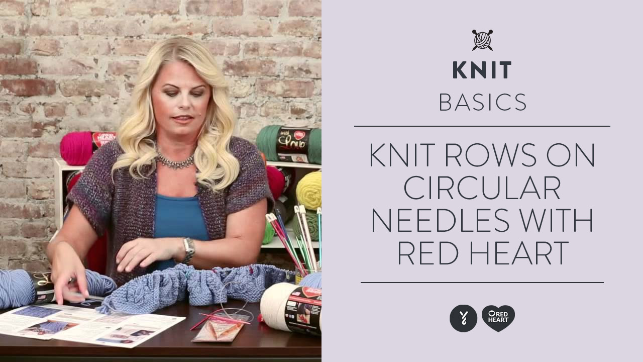 Learn to Knit Rows on Circular Needles