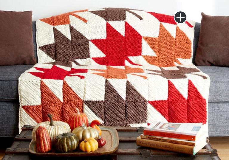 Easy Autumn Leaves Crochet Afghan