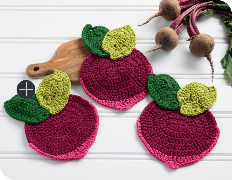 Lily Sugar'n Cream un-Beet-able Crochet Cloth
