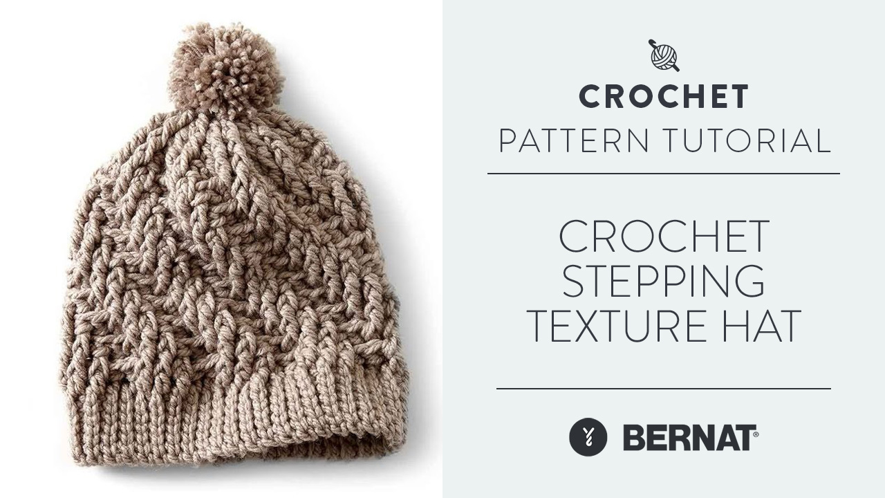 Crochet Stepping Texture Hat