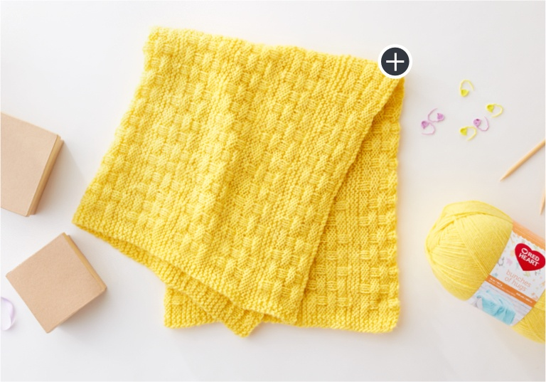 Beginner Bright & Cuddly Knit Blanket