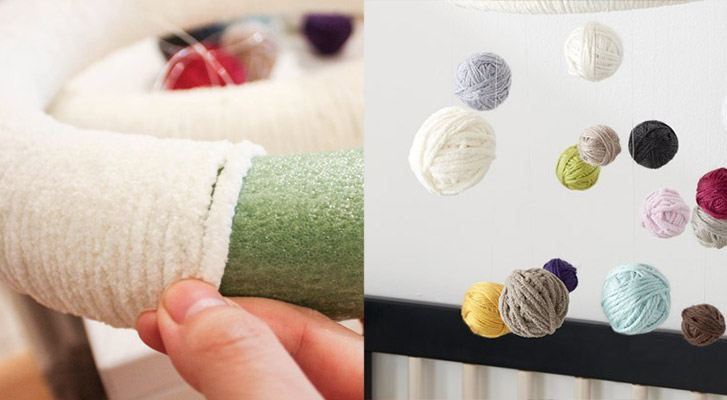 Modern Nursery: DIY Yarn Mobile