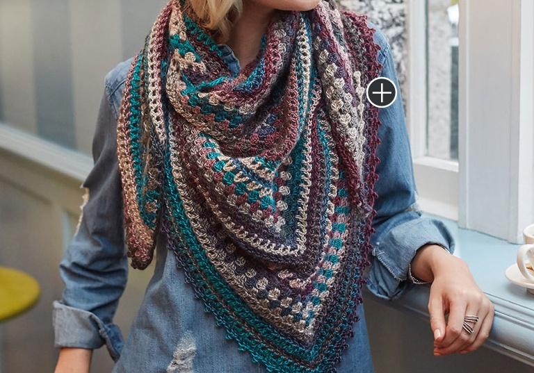 Easy Crochet Kaleidoscope Shawl